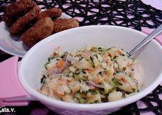 Cukkinisaláta Katától Potato Salad, Potatoes, Ethnic Recipes, Food, Potato, Essen, Meals, Yemek, Eten