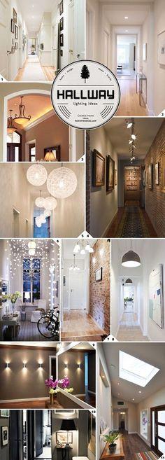Leave No Space Dark: Hallway Lighting Ideas – Home Tree Atlas – Beleuchtung Hallway Ideas Entrance Narrow, Long Hallway, Modern Hallway, Upstairs Hallway, Entryway, Hallway Lighting, Home Lighting, Lighting Ideas, Lighting Concepts