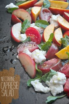 Nectarine Caprese Salad