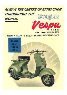"""the60sbazaar: """"1960s Vespa advert """""""