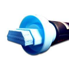 """Giant 1 1/4"""" Tip Neon Blue Car Glass Marker. You can use these bright NeoMarker waterproof pens on a variety of surfaces, including acrylic boards, glass, stone, metal, plastic and most any other smooth surface."""