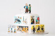 Tintin_Cake_3007410 • Tintin gateaux • Tintin birthday cake