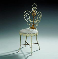 Gilbert Poillerat (1902-1988) / Garden Chair, Ananas model, ca 1946.