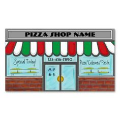 Completely customizable text red white green pizza business cards #businesscards #business #customcards #pizza  ArtisticAttitude.net