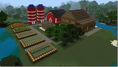 Minecraft Farm - My Minecraft World Minecraft Barn, Minecraft Building Guide, Minecraft City Buildings, Easy Minecraft Houses, Minecraft Houses Blueprints, Minecraft Decorations, Minecraft Construction, Minecraft Games, Minecraft Architecture