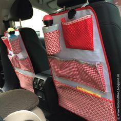 Autoutensilo für Kinder mit Flaschenhalter / car organizer / www.loloundtheo.blogspot.de