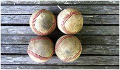 Vintage Baseballs Sports Decor Memorabilia Kids by JoyousVintage
