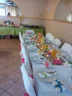 Bridal shower Fresh Fruit Centerpieces