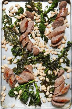 Sausage with Broccoli Rabe and White Beans