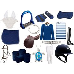 Blue Set by equestrierin on Polyvore featuring Ariat, Giles & Brother, Uncommon, Coolmax and Lorenzini
