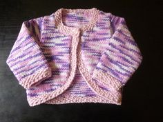 Handmade knitted baby girls multi purple/pink by BulldogKnits, £16.00