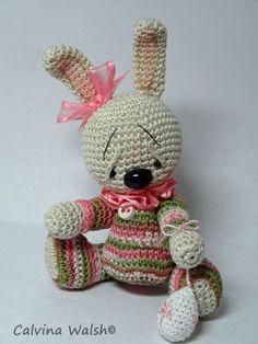 Bunny Amigurumi  Mini Anime Crochet Bear of Thread by Teddy Bear Artist C. Walsh #AllOccasion