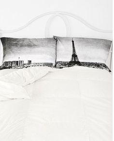 Gifts for Teens inspired by Paris:  Paris Panorama Pillowcases (set of 2) @ Urban Outfitter