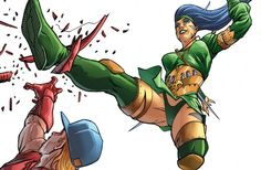 Cheshire (Jade Nguyen) is a fictional character, a antiheroine in the DC Comic universe. Created by Marv Wolfman and George Pérez, she first appeared in New Teen Titans Annual #2 in 1983. Jade was sold into slavery as a child, this trauma drove her insane, and paved her way into becoming one of the world's most ruthless mercenaries. After killing her master Jade became an international terrorist. Often recognized as one of the world's greatest and most ruthless assassins. Her skills include… Comic Villains, Comic Book Characters, Comic Books, Fictional Characters, Gi Joe, Jade Nguyen, Dan Decarlo, Jordi Bernet, Alex Toth