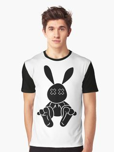 """Black Bunny "" T-shirt by Tema01 