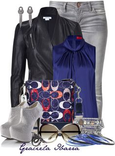 """""""Blue and Gray"""" by grachy on Polyvore"""