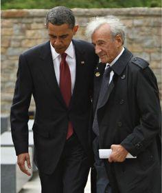 US-Präsident Barack Obama und Elie Wiesel besuchen gemeinsam die KZ-Gedenkstätte Buchenwald