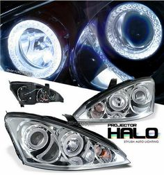Ford Focus MK1 2001-2005 Chrome Angel Eye Projector Headlights (models with indicators within headlights)