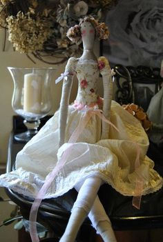 Angel Romantic Tilda doll with lace unique handmade by marcuska, €30.00