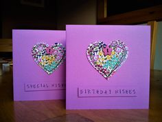 Hand made machine sewn birthday cards made with Regent Street Moda fabric and a button