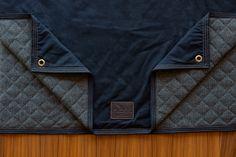 (Black Color Waxed Cotton & Herringbone Wool)
