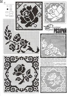 746 best images about Charts for filet crochet 5 on . Filet Crochet Charts, Crochet Motifs, Crochet Diagram, Crochet Squares, Thread Crochet, Crochet Doilies, Crochet Lace, Crochet Stitches, Crochet Tablecloth Pattern