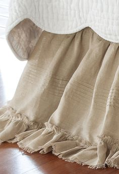 Our Heritage Bedskirt give a french country chic charm to any bed ensemble.  With a delicate ruffle, it gives a feminine touch!
