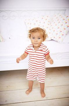 Too cute! Striped Mini Boden romper.