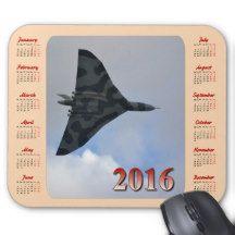 Vulcan Bomber 2016 Mousepad Calendar