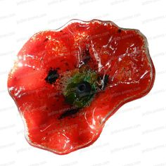 Add colour to your garden all year round with these stunning handmade glass poppies - colour : red Ceramic Poppies, Ceramic Decor, Red Poppies, Handmade Decorations, Projects To Try, Poppy Red, Sculpture, Glass, House