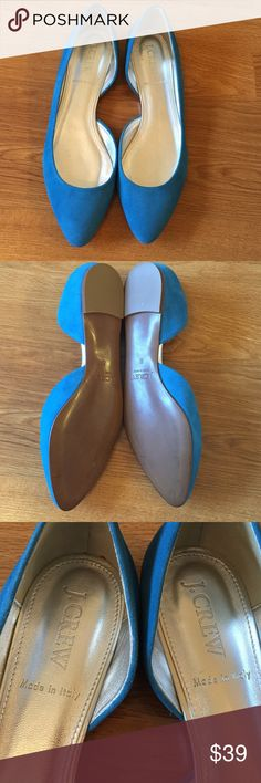 New Jcrew suede flat size 6 New/ suede/ size 6/made in Italy J. Crew Shoes Flats & Loafers