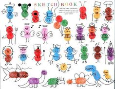 Ed Emberley Finger Print Art.little person holding fingerprint balloons! Toddler Crafts, Preschool Crafts, Crafts For Kids, Arts And Crafts, Fingerprint Crafts, Finger Art, Thumb Prints, Footprint Art, Handprint Art