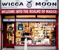 Wicca Moon, magick shop. Delightful.