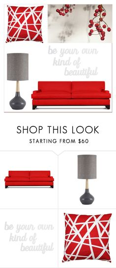 """Berry Red"" by lgrsrider ❤ liked on Polyvore featuring interior, interiors, interior design, home, home decor, interior decorating, Thrive, Signature Design by Ashley, PBteen and Pillow Decor"
