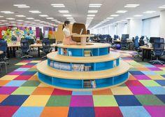 teamlab designs pixiv office with 250m interactive work desk #teamlab #pixiv