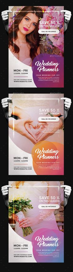 Wedding Planner Flyer Design Template - Commerce Flyers Design Template PSD. Download here: https://graphicriver.net/item/wedding-planner-flyer/19414210?ref=yinkira