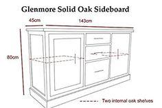 Solid Oak Sideboard | Large Light Oak Living Room Furniture | HFL.CO.UKS1139: Amazon.co.uk: Kitchen & Home