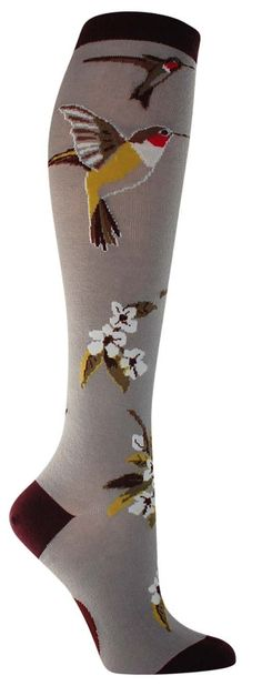 http://rubies.work/0070-ruby-rings/ Hummingbird Garden Knee High Socks