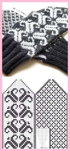 Crochet socks free hand warmers New Ideas Crochet Stitches Chart, Crochet Mittens Free Pattern, Crochet Socks, Knit Mittens, Knitting Charts, Lace Knitting, Knitting Socks, Knitting Patterns, Crochet Baby Booties Tutorial