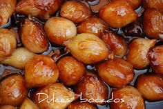 Dulces bocados: Cebollitas caramelizadas Onion Recipes, Mexican Food Recipes, Spanish Cuisine, Appetizers For Party, Chutney, Delish, Side Dishes, Food And Drink, Veggies