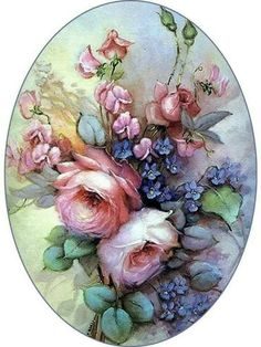 Flower painting Drawing Tips what time is the powerball drawing tonight Art Floral, Decoupage Vintage, Flower Images, Flower Art, Vintage Cards, Vintage Paper, Vintage Rosen, Decoupage Printables, China Painting