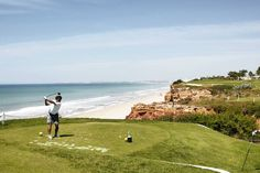 Portugal's Golf Resorts Improve Their Game Buyers in the exclusive communities of the Algarve coast's Golden Triangle tear down old-style mansions to put up modern villas - Wall Street Journal - May 2015   Hole 16 at Vale do Lobo's Royal Golf Course, overlooking the Atlantic.