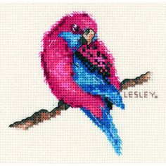 Craft Boutique - Crimson Rosella Cross Stitch Kit by Lesley Suzanne Davies from DMC