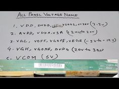 All Panel voltages name and Values Explain Electrical Engineering Books, Sony Led Tv, Computer Maintenance, Lcd Television, Digital Microscope, Tv Panel, Electronic Circuit Projects, Electronic Schematics, Circuit Diagram