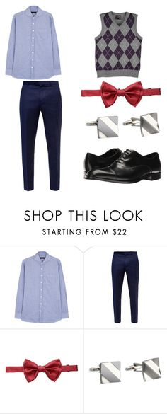 """""""Inside Out: Fear"""" by smmashley ❤ liked on Polyvore featuring Lardini, Ted Baker, Dolce&Gabbana, Stacy Adams, Emporio Armani, men's fashion and menswear"""