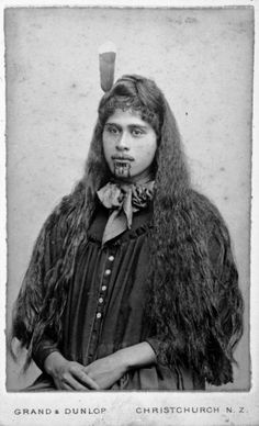 Grand & Dunlop, fl 1876-1880 :Portrait of Susan Jury (Te Aitu-o-te-rangi Wikitoria Jury, also known as Sue Materoa Jury)