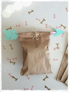 Boho tribal party paper treat bags paper straw by BBAHomemade