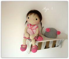 Amigurumi Crochet Doll Aya by Rusi Dolls by RusiDolls on Etsy