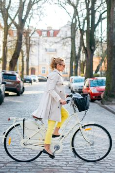 If I rode a bike in a trench coat...