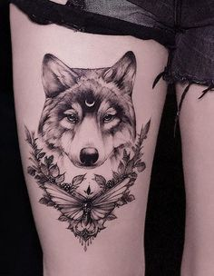 50 of the Most Beautiful Wolf Tattoo Designs the Internet Has Ever Seen - Pierc . - 50 of the Most Beautiful Wolf Tattoo Designs the Internet Has Ever Seen – Piercings Tattoos – # - Wolf Tattoo Design, Tattoo Designs, Tattoo Ideas, Wolf Design, Animal Design, Wolf Sleeve, Wolf Tattoo Sleeve, Sleeve Tattoos, Tattoo Sleeves